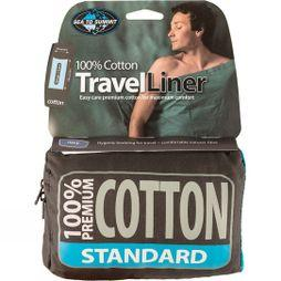 Sea to Summit Premium Cotton Travel Liner - Traveller (with Pillow slip) Eucalyptus Green