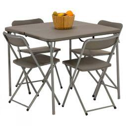 Vango Orchard 86 Table and Chair Set Grey