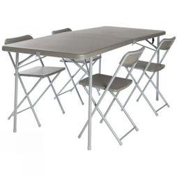Vango Orchard XL 182 Table and Chair Set Grey