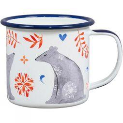 Wild and Wolf Folklore Enamel Mug Bear