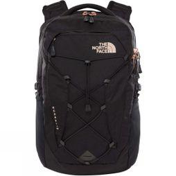 The North Face Womens Borealis Rucksack TNF Black Heather/Burnt Coral Metallic