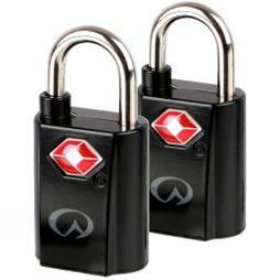 Lifeventure TSA Mini Padlocks (x2) Black