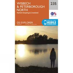 Ordnance Survey Explorer Map 235 Wisbech and Peterborough North V15