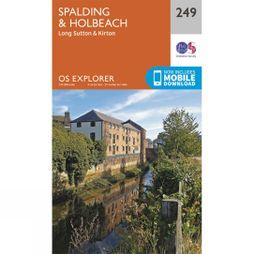 Ordnance Survey Explorer Map 249 Spalding and Holbeach V15