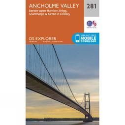 Ordnance Survey Explorer Map 281 Ancholme Valley V15