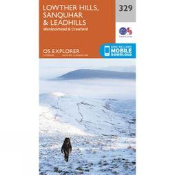 Ordnance Survey Explorer Map 329 Lowther Hills, Sanquhar and Leadhills V15