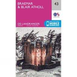 Ordnance Survey Landranger Map 43 Braemar and Blair Atholl V16