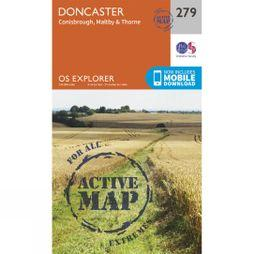 Ordnance Survey Active Explorer Map 279 Doncaster V15
