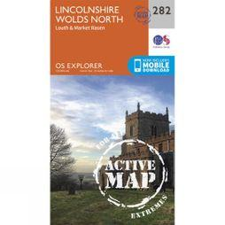Ordnance Survey Active Explorer Map 282 Lincolnshire Wolds North V15