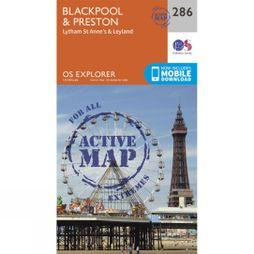 Ordnance Survey Active Explorer Map 286 Blackpool and Preston V15