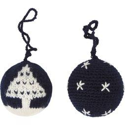 Ayacucho Christmas Baubles 2 Pack Navy Baubles - Little Stars/Christmas Tree