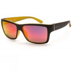 Bloc Riser Sunglasses Matt Black Yellow/Red Revo