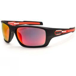 Bloc Phoenix Sunglasses Matt Black/Red Revo