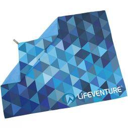 Lifeventure Soft Fibre Advance Travel Towel (Giant) Blue Triangles