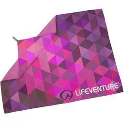 Lifeventure Soft Fibre Advance Travel Towel (Giant) Pink Triangles