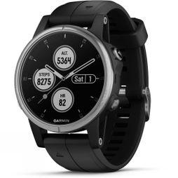 Garmin Fenix 5S Plus Multisport GPS Watch Silver/Black