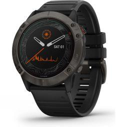 Garmin Fenix 6X Pro Solar Titanium Multisport GPS Watch Carbon Grey DLC/Black Band