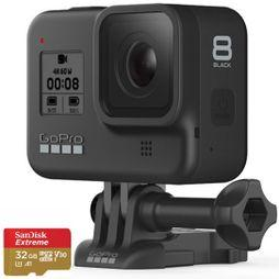 GoPro HERO8 Action Camera Black + 32GB MicroSD Card .