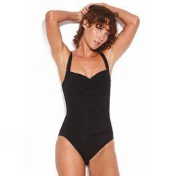 Seafolly Womens Twist Halter One Piece Swimsuit Black