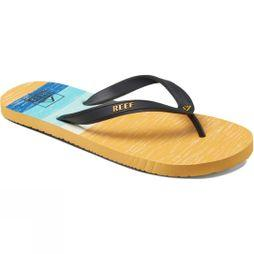 Reef Mens Switchfoot Prints Flip Flop White/Yellow/Blue