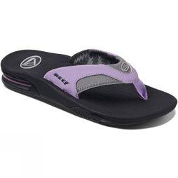Reef Womens Fanning Flip Flop Grey/Purple