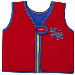 Speedo Childrens Sea Squad Float Vest Red/ Neon Blue