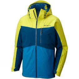 Columbia Mens Wild Card Jacket Acid Yellow / Phoenix Blue