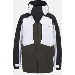 Peak Performance Mens Granite Ski Jacket WHITE/OLIVE EXTREME/BLACK