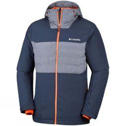 Columbia Mens White Horizon Hybrid Jacket Coll Navy/ BckCtry Orange