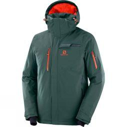Salomon Mens Brilliant Ski Jacket Green Gables