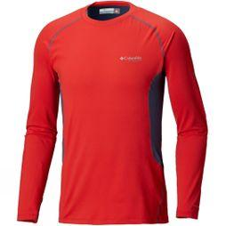 Columbia Mens Omni-Heat 3D Knit Crew Top Red Spark/ Dark Mountain