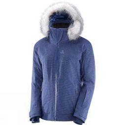 Salomon Womens Weekend+ Jacket Medevial Blue Heather