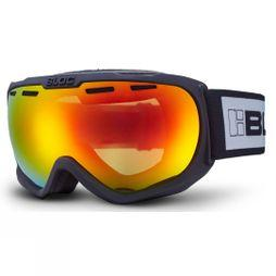 Bloc BOA Goggle Matt Black/Brown Revo red Mirror