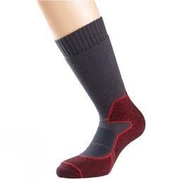 1000 Mile Heat Walk Sock Charcoal/Red