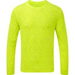 Ronhill Mens Momentum Afterlight L/S Tee Fluo Yellow