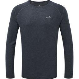 Ronhill Mens Momentum L/S Tee  Charcoal