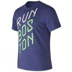 Heather Tech Run Graphic Short Sleeve Tee