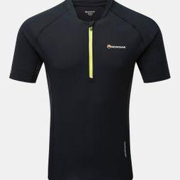 Montane Mens Fang Zip T-Shirt Black