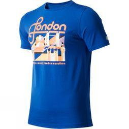 New Balance Men's London Tower Short Sleeve Top  Blue