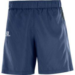 Salomon Mens Trail Runner Shorts Dress Blue