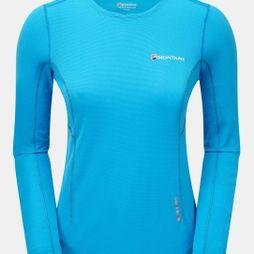 Montane Womens Claw Long Sleeve T-Shirt Cerulean Blue