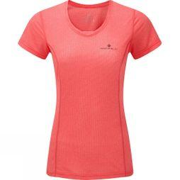 Ronhill Women's Stride Short Sleeve Tee Hot Pink/Charcoal