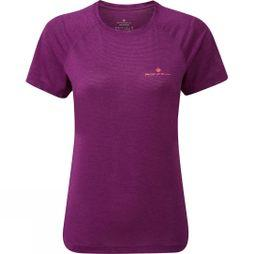 Ronhill Womens Stride Short Sleeve Tee Grape Juice Marl