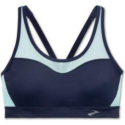Brooks FastForward Crossback Sports Bra Navy/Ice