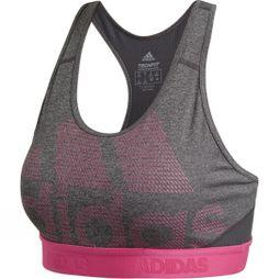 Adidas Womens Ask Sports Bra Crop Top Dark Grey Heather
