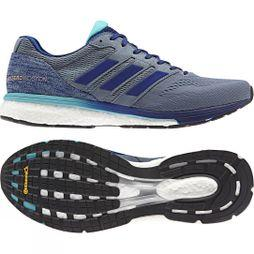 Adidas Mens Adizero Boston 7 Shoes Raw Steel S18/Mystery Ink F17/Hi-Res Aqua F18