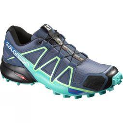 Salomon Womens Speedcross 4 Shoe Slateblue/Spa Blue/ Fresh Green