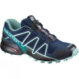 Salomon Womens Speedcross 4 Shoe Poseidon/Eggshell Blue/Black