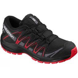 Salomon XA Pro 3D CSWP Junior Bottie Shoe Black/Black/High Risk Red