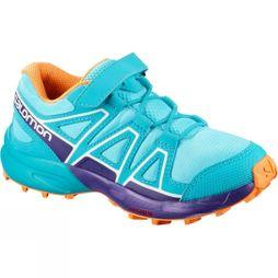 Salomon Childrens Speedcross Bungee Shoe Blue Curacao/Acai/Bird Of Paradise